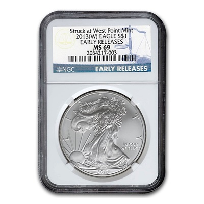 2013w 1oz USA Silver Eagle MS-69 NGC - Early Release